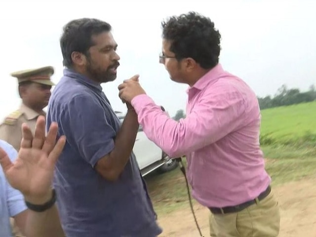 FIR on congress worker who misbehaved with abp ganga reporter