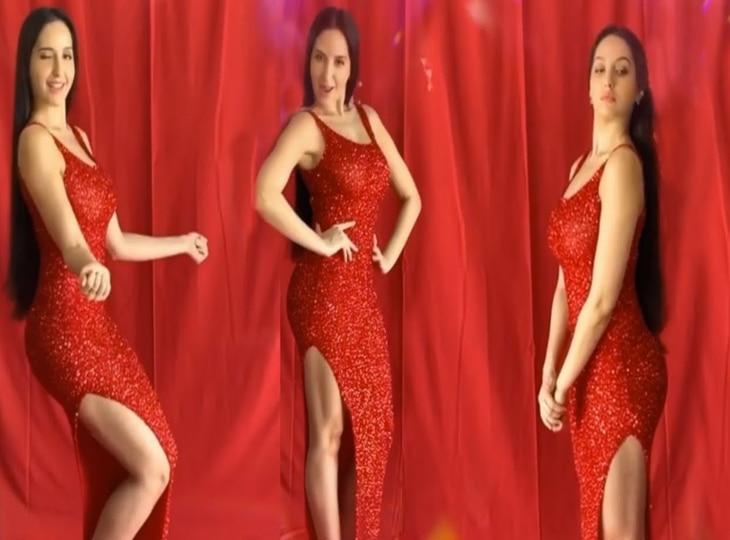 Kamariya पर रेड ड्रेस में Nora Fatehi ने दिखाए लटके-झटके, दिल हार गए Terence Lewis thumbnail